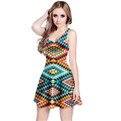 African Tribal Patterns Reversible Sleeveless Dress