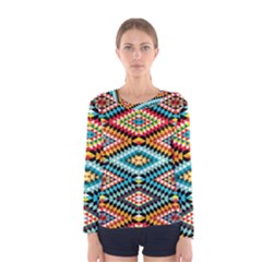 African Tribal Patterns Women s Long Sleeve Tee