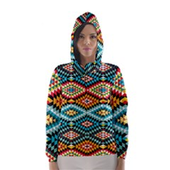 African Tribal Patterns Hooded Wind Breaker (women)