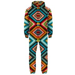 African Tribal Patterns Hooded Jumpsuit (men)