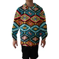 African Tribal Patterns Hooded Wind Breaker (kids)