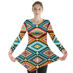 African Tribal Patterns Long Sleeve Tunic