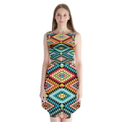 African Tribal Patterns Sleeveless Chiffon Dress