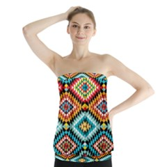African Tribal Patterns Strapless Top