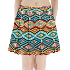 African Tribal Patterns Pleated Mini Skirt