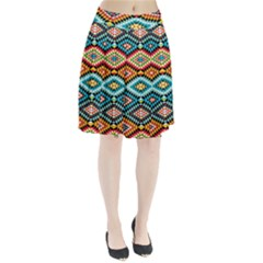 African Tribal Patterns Pleated Skirt
