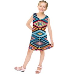 African Tribal Patterns Kids  Tunic Dress