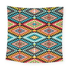 African Tribal Patterns Square Tapestry (large)