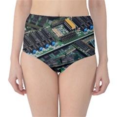 Computer Ram Tech High Waist Bikini Bottoms
