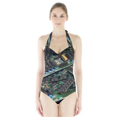 Computer Ram Tech Halter Swimsuit