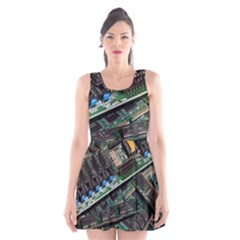 Computer Ram Tech Scoop Neck Skater Dress