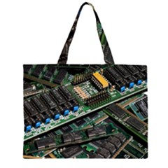 Computer Ram Tech Zipper Large Tote Bag