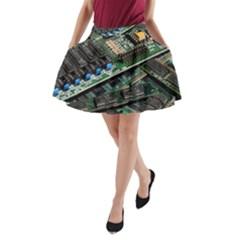 Computer Ram Tech A-Line Pocket Skirt