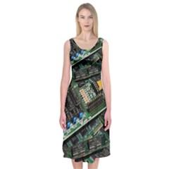 Computer Ram Tech Midi Sleeveless Dress