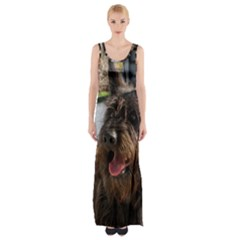 Berger Picard Maxi Thigh Split Dress