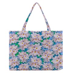 Plumeria Bouquet Exotic Summer Pattern  Medium Zipper Tote Bag