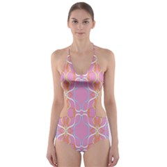 Ribbon Swurl Cut-Out One Piece Swimsuit