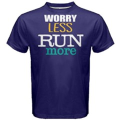 Worry less run more - Men s Cotton Tee