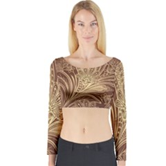 Beautiful Patterns Vector Long Sleeve Crop Top