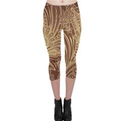 Beautiful Patterns Vector Capri Leggings