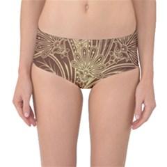 Beautiful Patterns Vector Mid Waist Bikini Bottoms