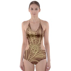Beautiful Patterns Vector Cut-Out One Piece Swimsuit