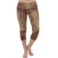 Beautiful Patterns Vector Capri Yoga Leggings