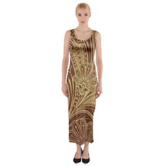 Beautiful Patterns Vector Fitted Maxi Dress