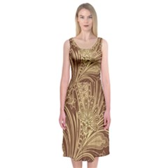 Beautiful Patterns Vector Midi Sleeveless Dress