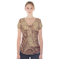 Beautiful Patterns Vector Short Sleeve Front Detail Top