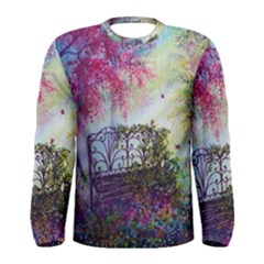 Bench In Spring Forest Men s Long Sleeve Tee