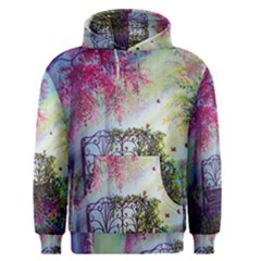 Bench In Spring Forest Men s Pullover Hoodie