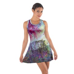 Bench In Spring Forest Cotton Racerback Dress