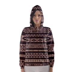 Ethnic Pattern Vector Hooded Wind Breaker (women)