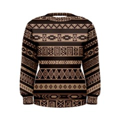 Ethnic Pattern Vector Women s Sweatshirt