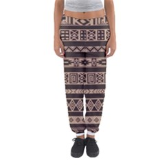 Ethnic Pattern Vector Women s Jogger Sweatpants