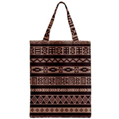 Ethnic Pattern Vector Zipper Classic Tote Bag