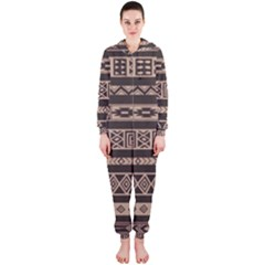 Ethnic Pattern Vector Hooded Jumpsuit (Ladies)