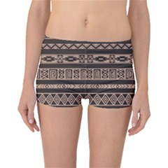 Ethnic Pattern Vector Boyleg Bikini Bottoms