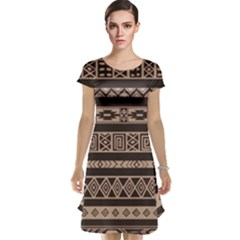 Ethnic Pattern Vector Cap Sleeve Nightdress