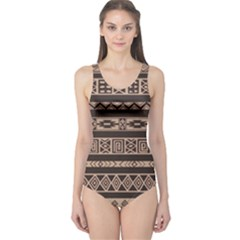 Ethnic Pattern Vector One Piece Swimsuit