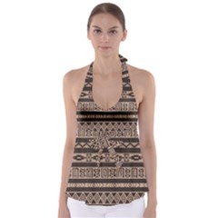 Ethnic Pattern Vector Babydoll Tankini Top