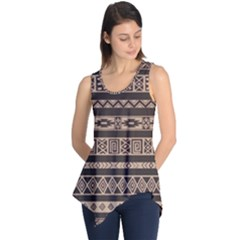 Ethnic Pattern Vector Sleeveless Tunic