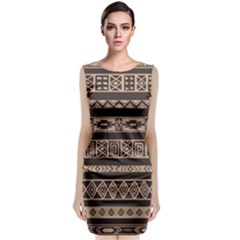 Ethnic Pattern Vector Classic Sleeveless Midi Dress