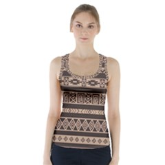 Ethnic Pattern Vector Racer Back Sports Top