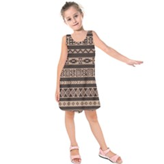 Ethnic Pattern Vector Kids  Sleeveless Dress