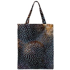 Coral Pattern Zipper Classic Tote Bag