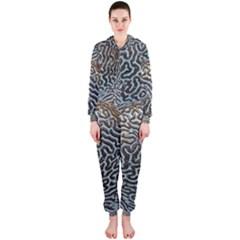 Coral Pattern Hooded Jumpsuit (ladies)