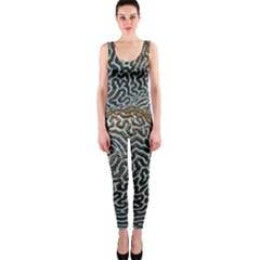 Coral Pattern OnePiece Catsuit