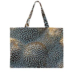 Coral Pattern Zipper Large Tote Bag